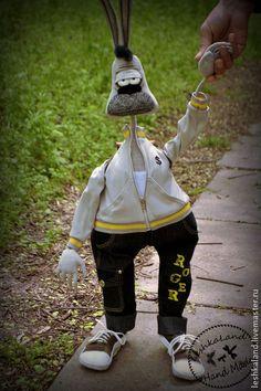 Коллекционные куклы ручной работы. Майский кроль Роджер. Лена Лешка. Интернет-магазин Ярмарка Мастеров. Прикольная игрушка, заяц