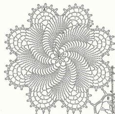 Crochê Tricô - Gráficos: Colcha Cata Vento
