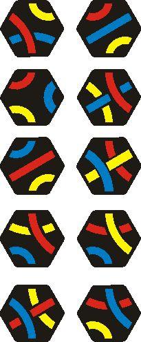 10 tessere di un set Tantrix scoperta