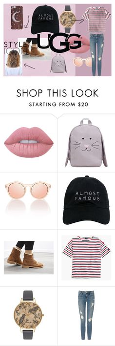 """""""The New Classics With UGG: Contest Entry"""" by felicitykay201 ❤ liked on Polyvore featuring Lime Crime, MANGO, Nasaseasons, UGG, Saint James, Olivia Burton, Frame Denim and ugg"""