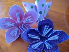 origami flower instructions - Google Search