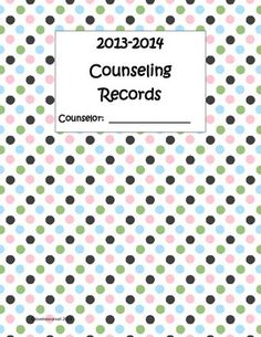 School counseling documentation pack