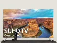 """The Ultimate Entertainment Center Giveaway Upgrade Your Living Room with a 55"""" 4K SUHD TV & a Logitech Harmony Elite Universal Remote"""
