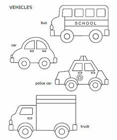 free printable car police car school bus and truck great for quiet book inspiration