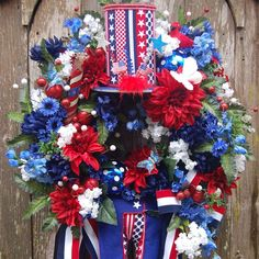 Payment plan available. Uncle Sam patriotic wreath
