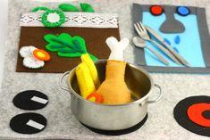 cucina giocattolo fai-da-te in feltro  Mamma Felice  DIY felt kitchen (felt + glue)
