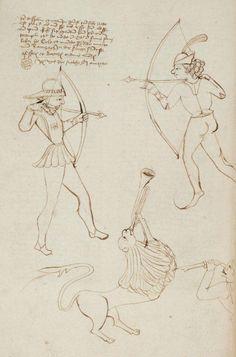 Archers and a lion