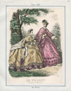 Le Follet, July 1863. LAPL Visual Collections.  Civil War Era Fashion Plate