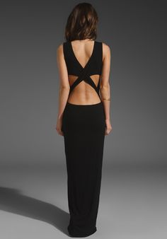 open back maxi - love