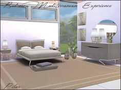 Dormitorio Mediterranean _Experiencie, con toda la luz del mediterraneo : http://www.thesimsresource.com/downloads/1271604