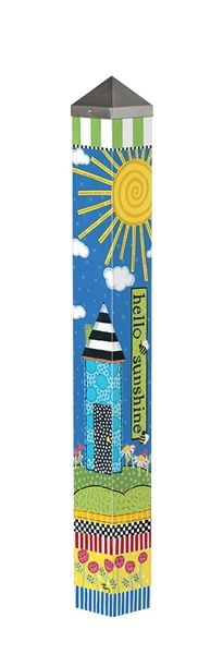 """Wildly+Popular+new+item+designed+by+Stephanie+Burgess+for+Painted+Peace.+This+is+a+3'+Peace+Pole+made+in+the+USA!+ -It+is+4""""+x+4""""+square. -Long-lasting+and+maintenance+free.+ -Made+of+strong,+lightweight+PVC+to+reduce+shipping+costs.+ -Laminated+for+fade-resistance+and+added+durability.+ -Ea..."""