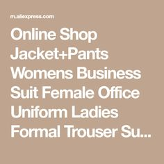 Online Shop Jacket+Pants Womens Business Suit Female Office Uniform Ladies Formal Trouser Suit Double Breasted Womens Tuxedo Custom | Aliexpress Mobile
