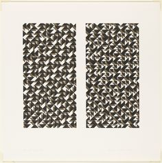 The Josef & Anni Albers Foundation--Anni Albers Fox II 1972 screenprint (can see her inspiration came from her experience as a weaver) Anni Albers, Josef Albers, Textile News, Textile Artists, Textile Patterns, Print Patterns, Geometric Patterns, Bauhaus Textiles, Bauhaus Design