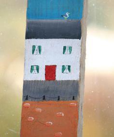 Driftwood Sign Tall Coastal Scene by TheLazyBeach on Etsy
