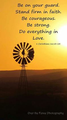 Windmill with sunset photography. With Bible verse!