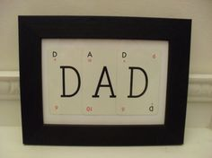 Vintage Game Cards DAD Picture Gift for Dad by BigGirlSmallWorld