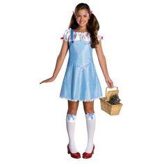 Dorothy Wizard of Oz Country Girl Gingham Dress Up Halloween Deluxe Teen Costume Wizard Of Oz Dorothy Costume, Dorothy Halloween Costume, Halloween Fancy Dress, Halloween Costumes For Kids, Wizard Oz, Halloween 2014, Toddler Halloween, Funny Halloween, Halloween Stuff