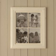 Distressed White Multi Photo Frame - picture frames