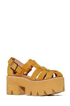 Jeffrey Campbell Argo Platform Sandal - Wheat | Shop Shoes at Nasty Gal
