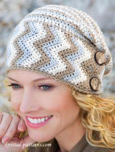 Women's hat crochet pattern free, #haken, gratis patroon (Engels), muts met knopen, #haakpatroon