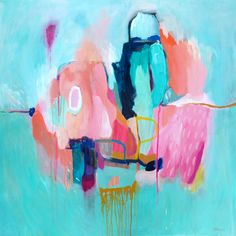 If you enjoy the abstract paintings of Lola Donoghue, I've come across a similar artist you may also love. Like Donoghue, Sarina Diakos paints vibrant abstract canvases that make serious stat…