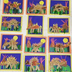 Dinosaur collages-Kindergarten-Art with Mr. Giannetto blog