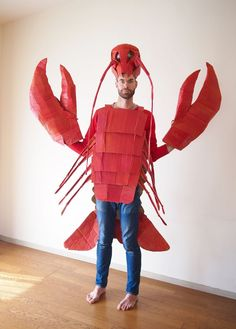 The Cardboard Collective: Cardboard Lobster Costume, and many more on the blog