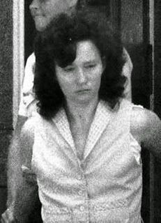 A hard faced Catherine Birnie is taken from court.