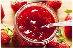 This Strawberry Rhubarb jam is sugar and pectin free. It is so easy to make and very delicious. This recipe makes 2 cups. The secret trick is that the chia seeds will thicken the fruit puree like a jam over night in the fridge! Strawberry Rhubarb Jam, Strawberry Jam Recipe, Strawberry Jelly, Bangla Recipe Video, Jam Recipes, Dessert Recipes, Desserts, Scone Recipes, Freezer Jam