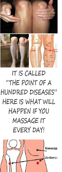 """IT IS CALLED """"THE POINT OF A HUNDRED DISEASES """"- HERE IS WHAT WILL HAPPEN IF YOU MASSAGE IT EVERY DAY!"""
