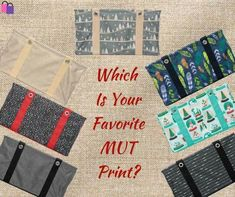 October's Monthly special is the Medium Utility Tote.  So which is your favorite print????