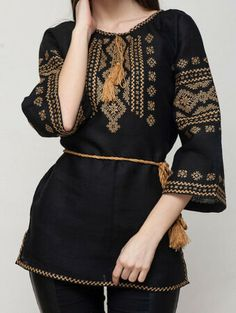 Great for Vyshyvanka womens Black Yellow Ukraine Embroidered blouse easter Sale Womens Tops from top store The Effective Pictures We Offer You About clothes for women stitch fix A quality pictur Casual Asian Fashion, Pakistani Fashion Casual, Pakistani Dress Design, Ethnic Fashion, Pakistani Dresses, Stylish Dresses For Girls, Frocks For Girls, Casual Dresses, Fashion Dresses