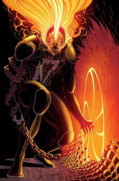 Ghost Rider #1 (2016) Variant - Tradd Moore (lines) and Val Staples (colors)