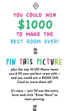 Pin a Room, Win a Room -- YUP! I want this room! Just watch the pinning for the winning ;) WOOT!