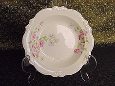 Homer Laughlin Collectibles | Vintage Homer Laughlin Fluffy Rose Pattern Soup Bowl (* Cereal ...