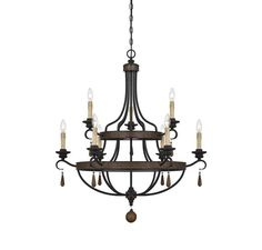 View the Savoy House 1-8902-9 Kelsey 9 Light Double Tier Candle Style Chandelier at LightingDirect.com.