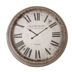 Clayre & Eef Wandklok 'Grand Hotel' - 65 cm