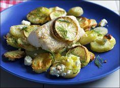 Torsk med sitronpoteter - veldig god (litt mye sitron) Fresh Eats, Potato Salad, Food To Make, Potatoes, Delivery, God, Ethnic Recipes, Dios, Potato