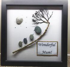 Pebble art - Mothers Day/Wonderful Mum/Birthday | eBay