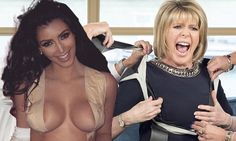 Ruth Langsford has her breasts gaffer-taped like Kim Kardashian