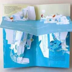 Océano - pop-up book by Anouck Boisrobert Louis Rigaud Pop Up Art, Up Book, Book Art, Libros Pop-up, Paper Art, Paper Crafts, 21st Birthday Cards, Accordion Book, Paper Engineering