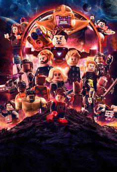 Lego Avengers Infinity War Poster on Behance