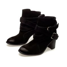HIGH HEEL ANKLE BOOTS WITH BUCKLES - Ankle boots - Shoes - Woman | ZARA United States