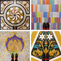 Colorful Photo Series Reveals the One-Of-A-Kind Floor Patterns of Venice - My Modern Met  | Scuola Grande di San Rocco by Sebastian Erras