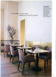 ELLE DECO Décembre 2016 Reportage Restaurant Oré / Ducasse au Château de Versailles