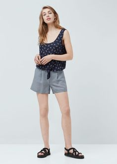 Knotted top   MANGO