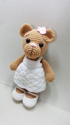 Irresistible Crochet a Doll Ideas. Radiant Crochet a Doll Ideas. Easy Crochet Patterns, Crochet Patterns Amigurumi, Amigurumi Doll, Crochet Designs, Crochet Dolls, Crochet Bear, Cute Crochet, Beautiful Crochet, Crochet Mermaid
