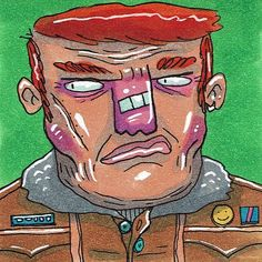Suspicious Tony looking suspicious. #ugly_ink #ugly #ink #postitnote #postitnoteart #copicmarkers #copic #suspicious #lookingsideways #jacket #pins #redhead #ginger #characterdesign #brokennose #conceptart #illustration #art #streetart #lowbrow #drawing #sketch #doodle #scribble #markers by ugly_ink