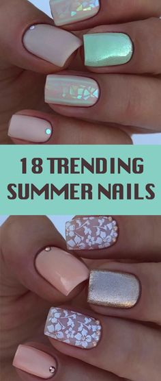 18 Trending Summer Nail Designs 2018. Color club holographic nail polish