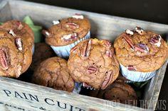 pumpkin apple pecan muffins